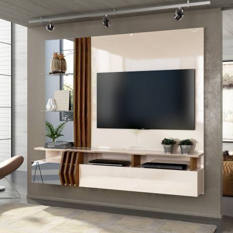 "Painel Home Suspenso para TV 55"" Bello 100% MDF - Foto 2"