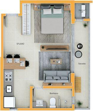 Apartamento Studio - Investimento Centro de Criciúma - Foto 17