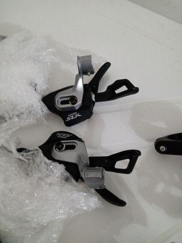 Vendo grupo Shimano slx 2x11 completo menos freio - Foto 2