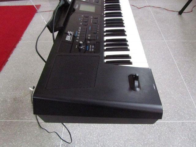 Bk5 Roland c/ritmos Brasil lindo parcelo cartão/ML faço brik Yamaha,Korg,Casio - Foto 4