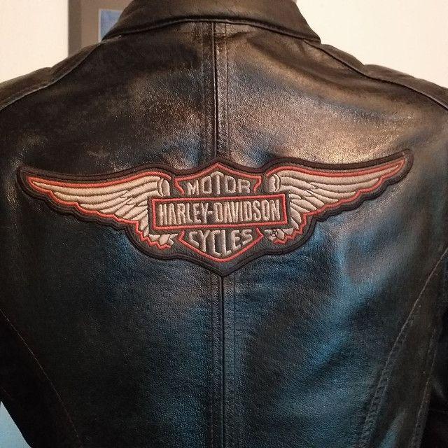 Jaqueta de couro Harley-Davidson feminina XS/PP - Foto 3