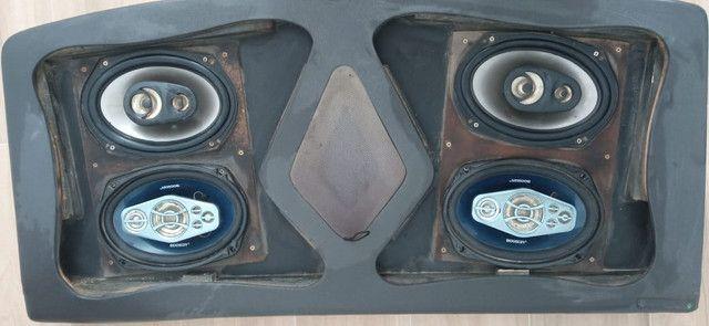 "Módulo Power One 1200 Watts, Sub Bravox UXP 12"" 500 RMS, Par 69 Bravox E Booster - Foto 2"