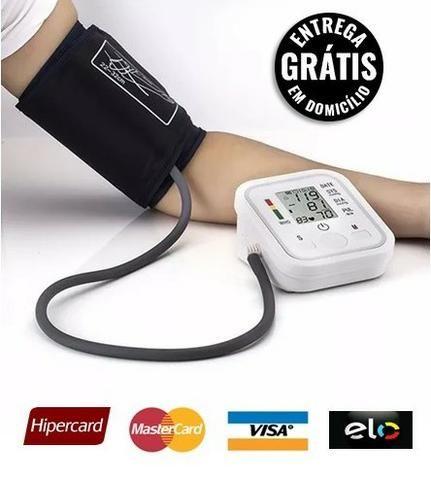 Esfigmomanômetro de pressão arterial digital braço - entrega grátis