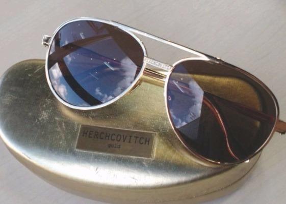 8b388aaea Oculos Herchcovitch Chilli Beans Folheado a Ouro 24k Modelo especial  estilista
