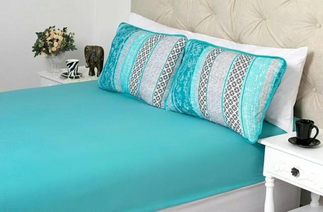 Lençol pra cama queen com 3 peças de algodáo