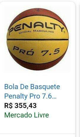1a5d28a394cf6 Bola de Basquete Penalty Oficial Masculino Pro 7.5 - Esportes e ...