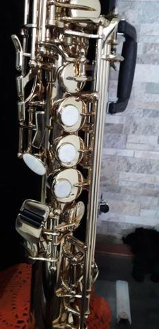 Sax soprano Eagle sp 502 novíssimo lindo - Foto 4