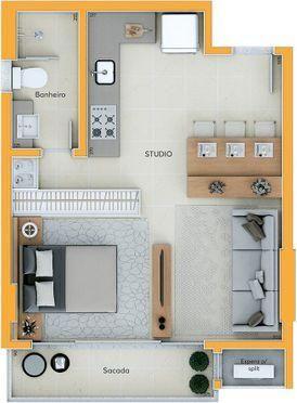 Apartamento Studio - Investimento Centro de Criciúma - Foto 16
