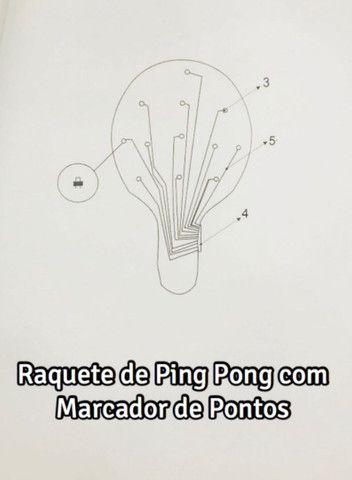 Raquete de Ping Pong com marcador digital de ponto