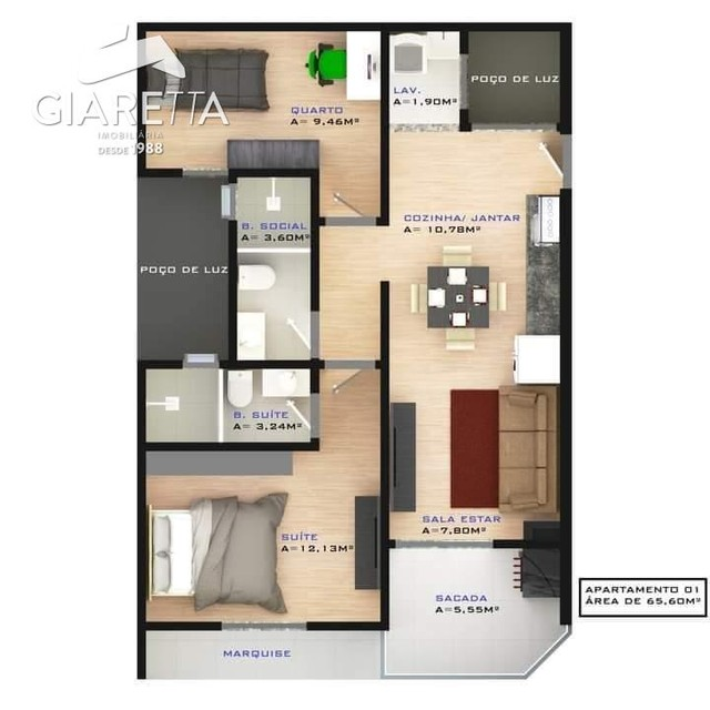 Apartamento à venda, JARDIM SANTA MARIA, TOLEDO - PR - Foto 6