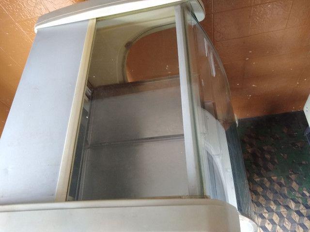 Balcão estufa quente 0,75 m expositor vidro Curvo  Refrimate ok - Foto 5