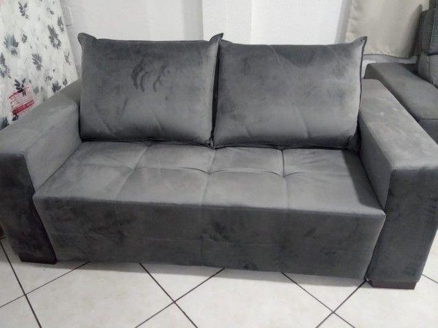 Sofá cama 1,80L tecido suede - Foto 5