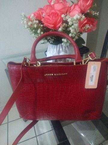 Bolsa Jorge Bischoff em couro legítimo - Foto 2