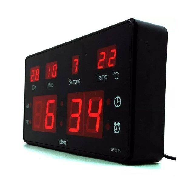 Relógio De Parede Digital Lelong Le2114 -Entregamos via Motoboy - Foto 2
