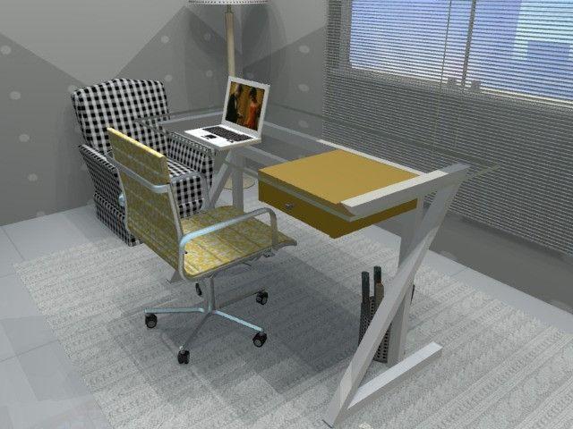 Mesa de Escritório em Madeira Maciça. OBS: Vendas Via Whatsapp. Gil - Foto 3