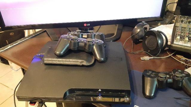 Playstation 3 Desbloqueado com ultima firmware e 2hds de 500gbs