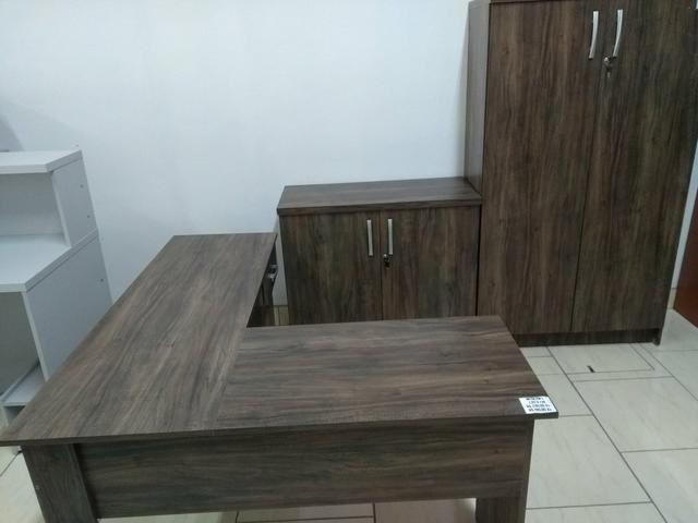 Conjunto móveis escritório Novos revenda de fábrica - Foto 4