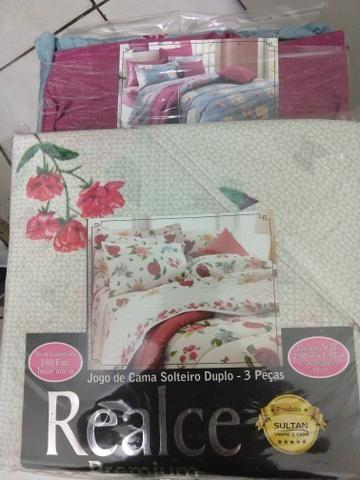 2 kit cama de solteiro 3 peças cada