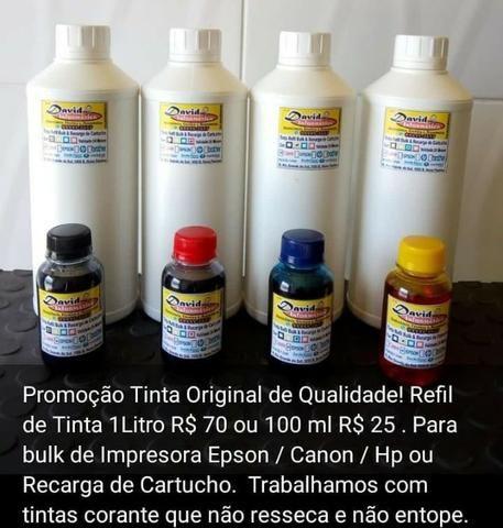 Tinta Corante para Impressora com Bulk Epson/ Canon / Hp ou Kit Recarga de Cartuchos - Foto 3