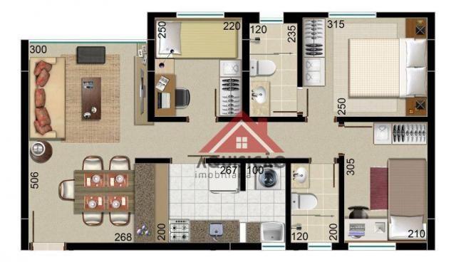 Apartamento com 3 dormitórios à venda, por r$ 399.000 - boa vista - curitiba/pr - Foto 2