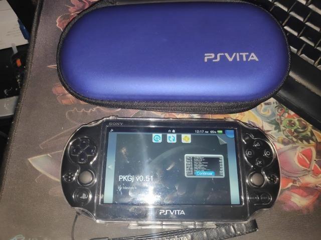 Ps vita slim Zero case capa 64GB pkgj 10 jogos instalados, parcelamos, loja