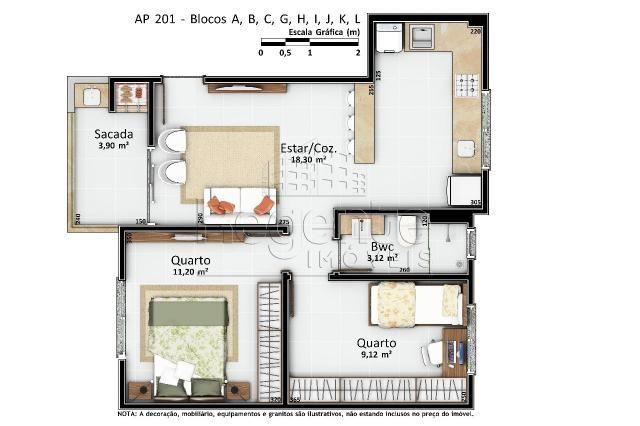 Apartamento à venda com 2 dormitórios em Vargem pequena, Florianópolis cod:76624 - Foto 11