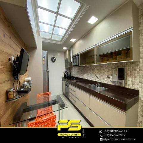 Apartamento com 3 dormitórios à venda, 118 m² por R$ 460.000 - Manaíra - João Pessoa/PB - Foto 8