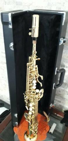 Sax soprano Eagle sp 502 novíssimo lindo - Foto 6