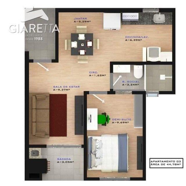Apartamento à venda, JARDIM SANTA MARIA, TOLEDO - PR - Foto 4