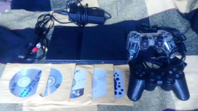 Playstation 2 Slim Ps2 Completo