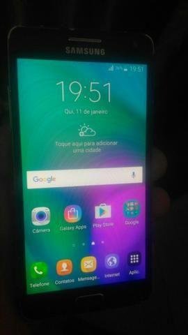 Samsung Galaxy A5, azul, Duos, 100%, Parcelo, Aceito trocas