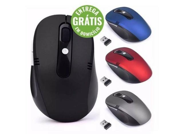 Mouse wireless sem fio 2.4ghz usb alcance 10m notebook pc - entrega grátis