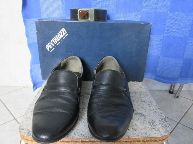 Sapato Social Pestalozzi - Nº 39 - Couro Legitimo Excelente