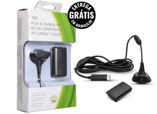 Bateria Carregador Para Controle Xbox 360 12.000mah - entrega grátis