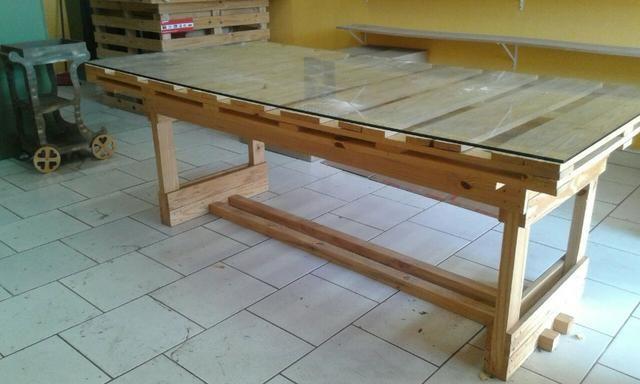 Oportunidade mesa de vidro e balcão de caixa