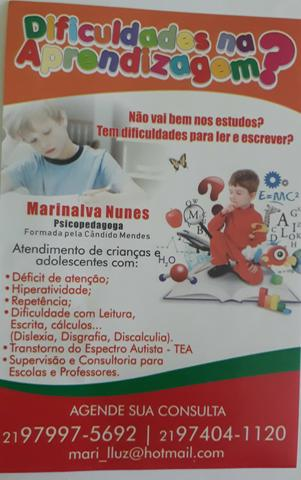 Atendimento psicopedagogico/ Nova Iguacu