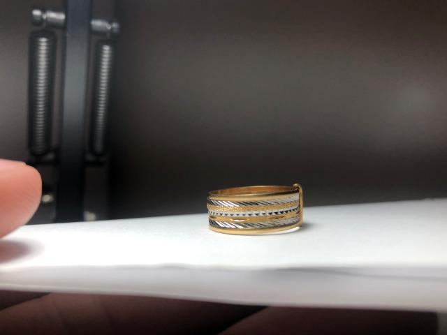 13cd0175383 Anel Ouro 18k 7 Elos
