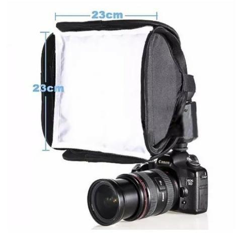 Softbox P/ Flash Speedlite Universal 23x23cm Canon, Nikon, Sony e Outras Marcas
