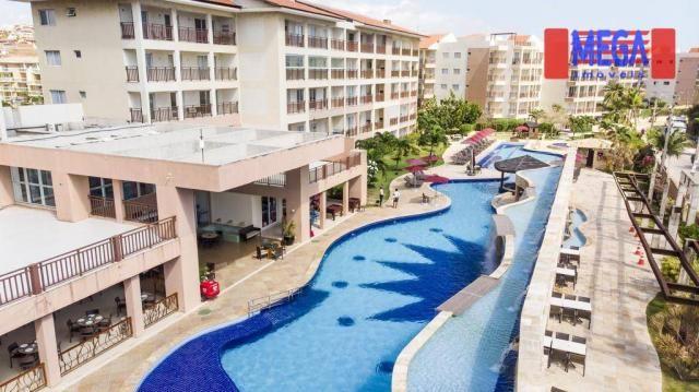 Apartamento com 2 dormitórios para alugar, 72 m² por R$ 2.700,00/mês - Porto das Dunas - A