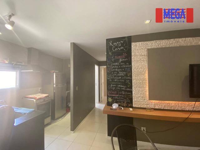 Apartamento com 2 dormitórios para alugar, 72 m² por R$ 2.700,00/mês - Porto das Dunas - A - Foto 10