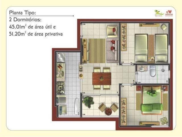 Apartamento no Residencial Bela Vista, 2 quartos - Foto 2