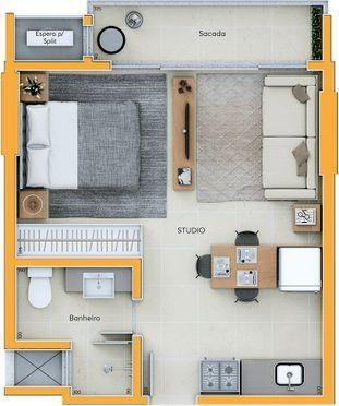 Apartamento Studio - Investimento Centro de Criciúma - Foto 15