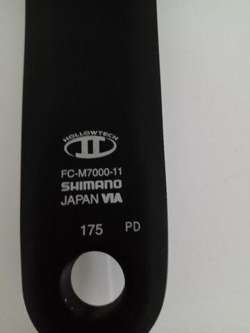 Vendo grupo Shimano slx 2x11 completo menos freio - Foto 6