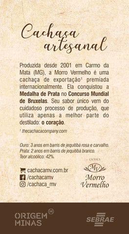 Cachaça Morro Vermelho Prata   500 ml - Foto 2