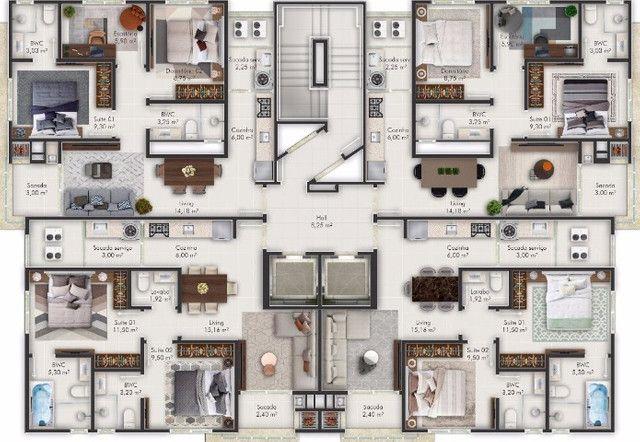 Apartamentos em Itapema com 02 suítes, ultimas unidades, 500 m mar!!! Morretes - Foto 11