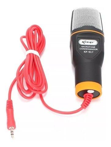 microfone condensador com tripé - Foto 4