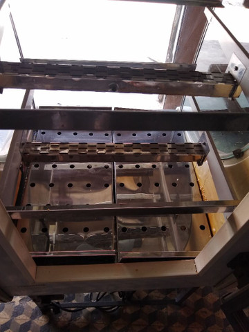 Balcão estufa quente 0,75 m expositor vidro Curvo  Refrimate ok - Foto 6