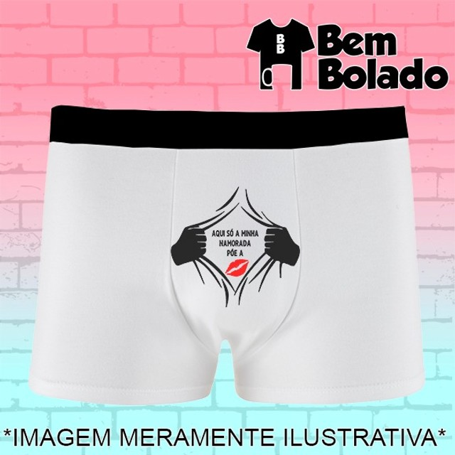 Presente dia dos Namorados cueca personalizada com frase - Foto 2