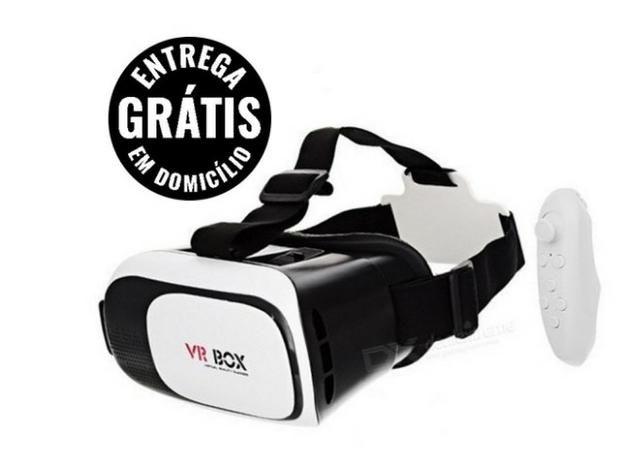 Óculos vr box 2.0 realidade virtual 3d android ios + controle - entrega grátis