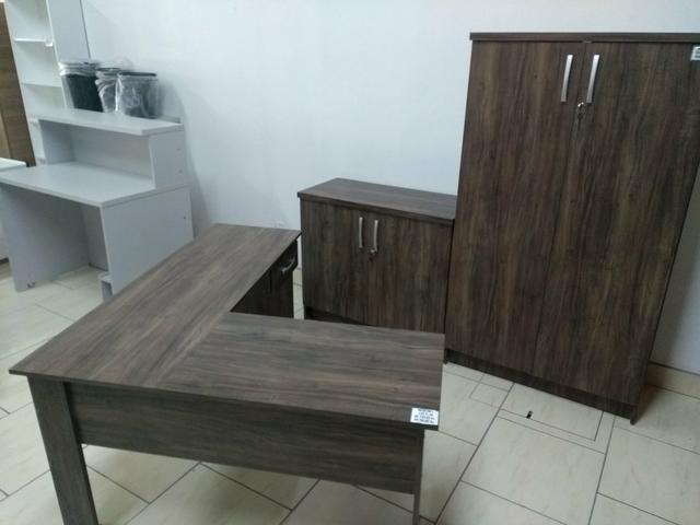 Conjunto móveis escritório Novos revenda de fábrica - Foto 5